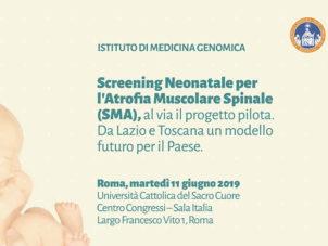 Screening Neonatale per l'Atrofia Muscolare Spinale (SMA), al via il progetto pilota. Da Lazio e Toscana un modello futuro per il Paese